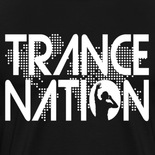 Trance Nation (White) - Premium-T-shirt herr