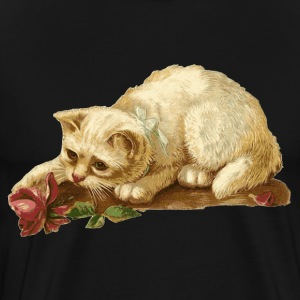 Cat with Rose - Men's Premium T-Shirt