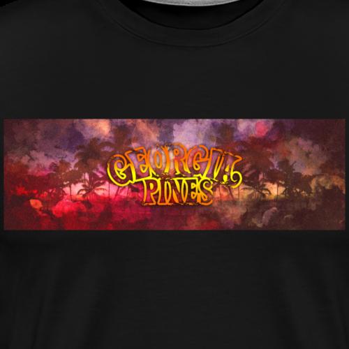 Georgia Pines Palmen Panorama - Männer Premium T-Shirt