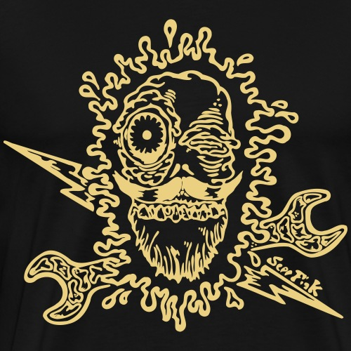 Splatterhead Blitzkopf (Motivfarbe änderbar!) - Männer Premium T-Shirt