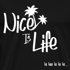 Nice is life Blanc - T-shirt Premium Homme
