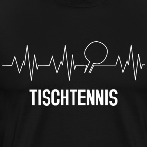 Heartbeat bordtennis - Premium-T-shirt herr