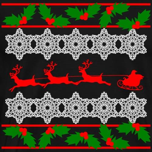 Weihnachtspullover - Mistelzweige - Männer Premium T-Shirt
