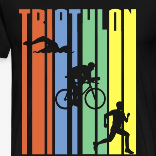 TRIATHLON - Stripes - Männer Premium T-Shirt