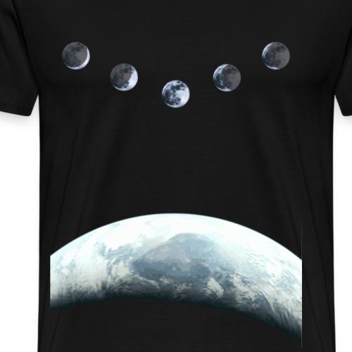 Maan Fase 5 Aarde in Space - Mannen Premium T-shirt