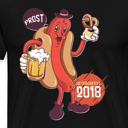 OKTOBERFEST 2018 DRINKING EATING SAUSAGE WIENER - Premium-T-shirt herr