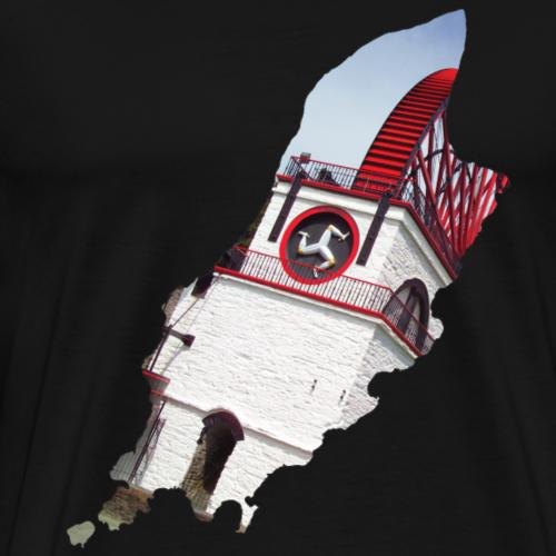 Isle of Man Double Exposure Laxey Wheel - Men's Premium T-Shirt