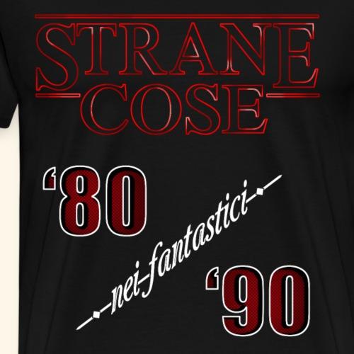 STRANGER THINGS - STRANE COSE 80/90 - Maglietta Premium da uomo