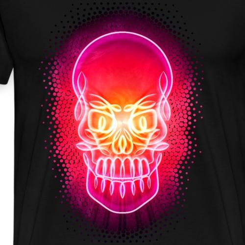 Psychedelic Celtic Neon Glowing Skull - Men's Premium T-Shirt