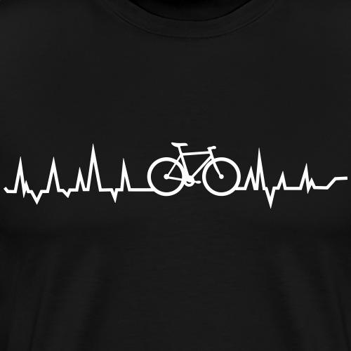 Herz für das Fahrrad - Männer Premium T-Shirt