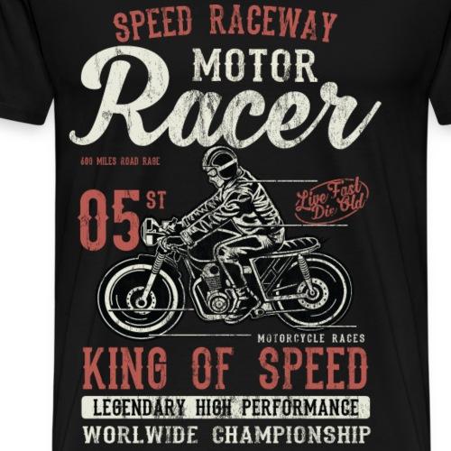 MOTOR RACER - Rennmotorrad Shirt Motiv - Männer Premium T-Shirt