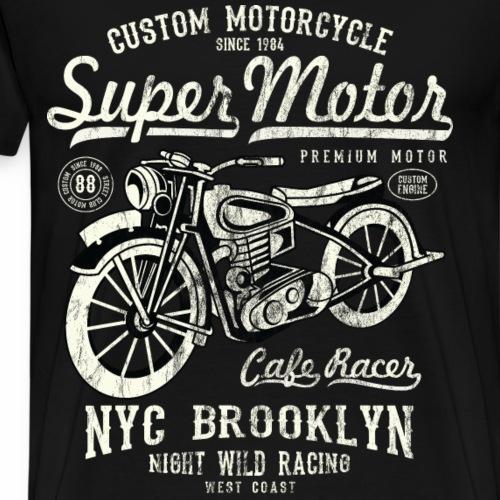 SUPER MOTOR- Motorräder Motorcycles Biker Geschenk - Männer Premium T-Shirt