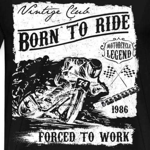 1986 BORN TO RIDE - Cross Motorrad Schirt Geschenk - Männer Premium T-Shirt