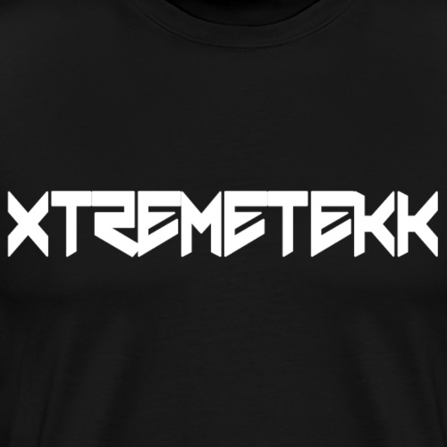 XTREMETEKK Nero White - Männer Premium T-Shirt