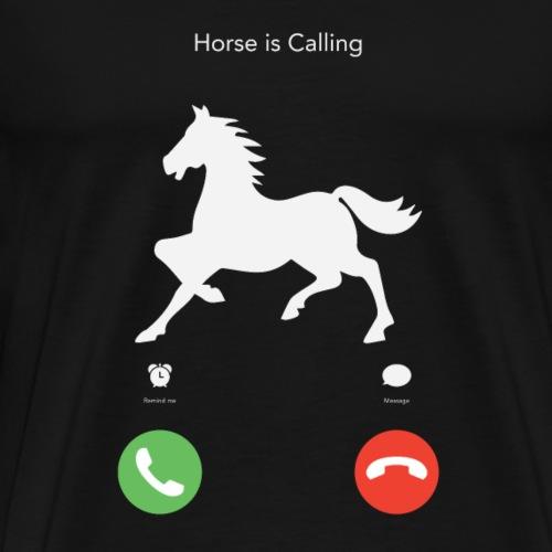 Mein Pferd ruft - Männer Premium T-Shirt
