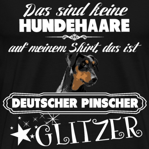 DEUTSCHER PINSCHER Glitzer - Männer Premium T-Shirt