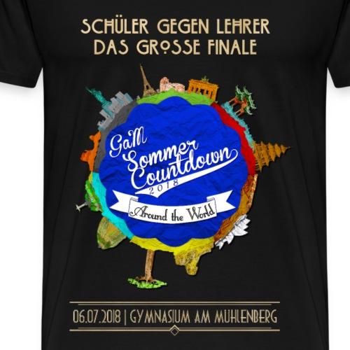 Globe (Goldene Schrift) - Männer Premium T-Shirt