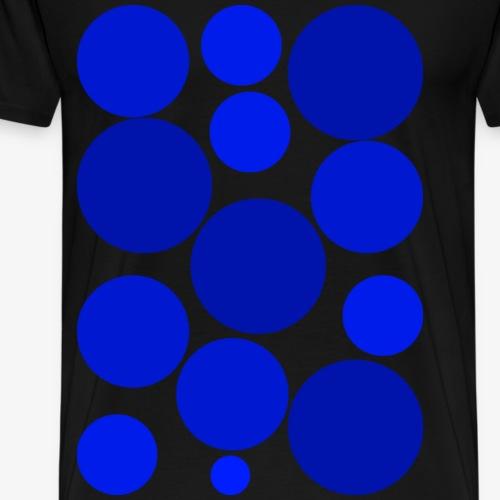 blaue Kreise - Männer Premium T-Shirt