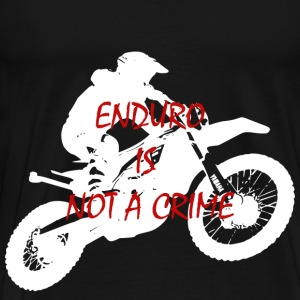 enduro is not a crime 2 - Men's Premium T-Shirt