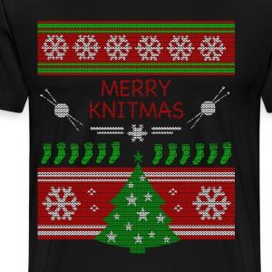 Merry Knitmas - Men's Premium T-Shirt