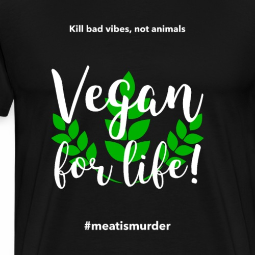 Vegan for life - Männer Premium T-Shirt