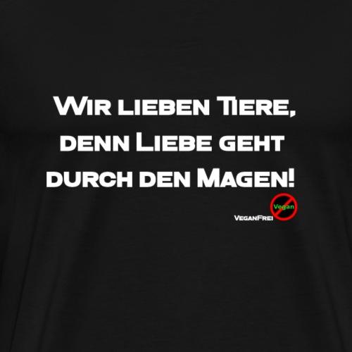 LiebeGehtDurchDenMagen - Männer Premium T-Shirt