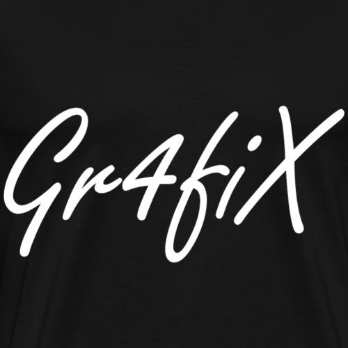 Gr4fiX Name Weiß - Männer Premium T-Shirt