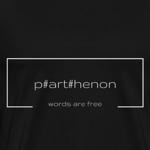p#art#henon of books - words are free - hellgrau - Männer Premium T-Shirt