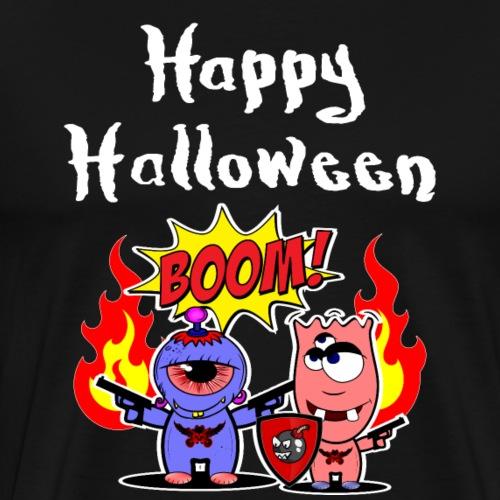 Happy Halloween mit den powershirtz logo boys - Männer Premium T-Shirt
