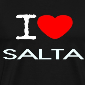 I LOVE SALTA - Premium T-skjorte for menn