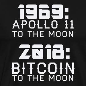 2018 Bitcoin to the Moon - Männer Premium T-Shirt