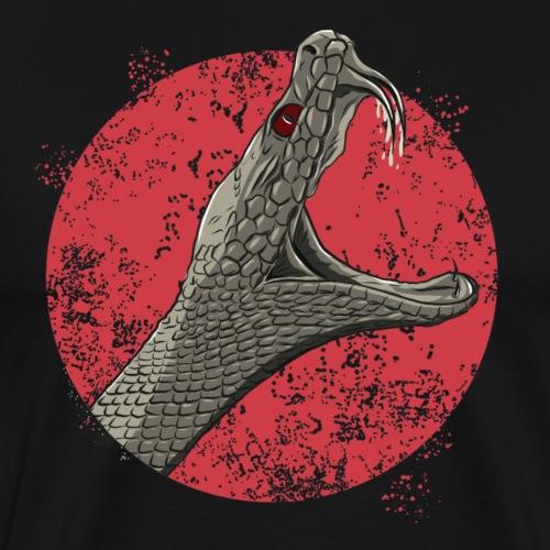 Klapperschlange in graubraun - Männer Premium T-Shirt