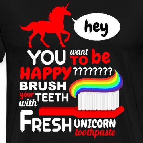 Hey Fresh Unicorne - T-shirt Premium Homme
