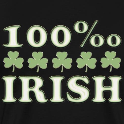 100 ‰ Promille Irish St. Patricks Day Kleeblatt - Männer Premium T-Shirt