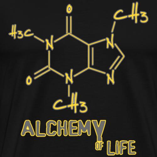 Alchemy of life - Coffein Kaffee Liebhaber Barista - Männer Premium T-Shirt