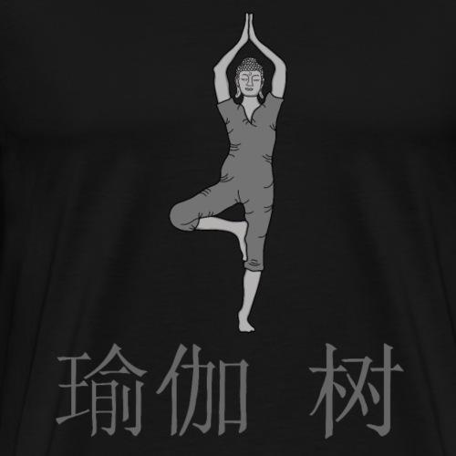 Buddha Yoga Baum - Männer Premium T-Shirt
