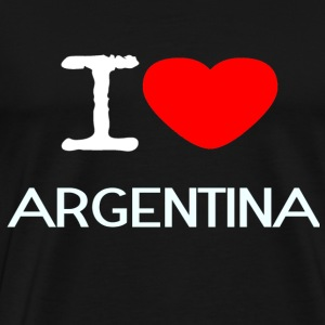 I LOVE ARGENTINA - Men's Premium T-Shirt