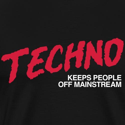 Techno music - Men's Premium T-Shirt