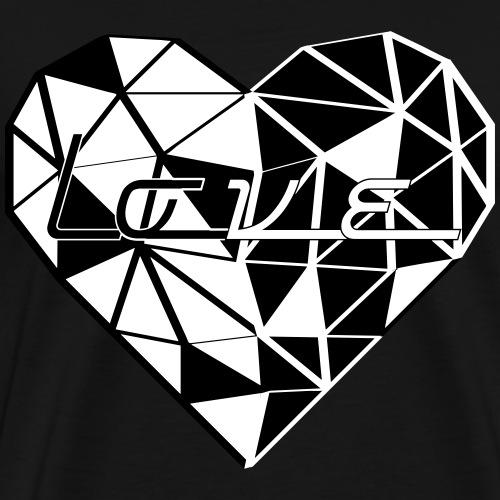 LOVE TRIANGLE blackandwhite - Männer Premium T-Shirt