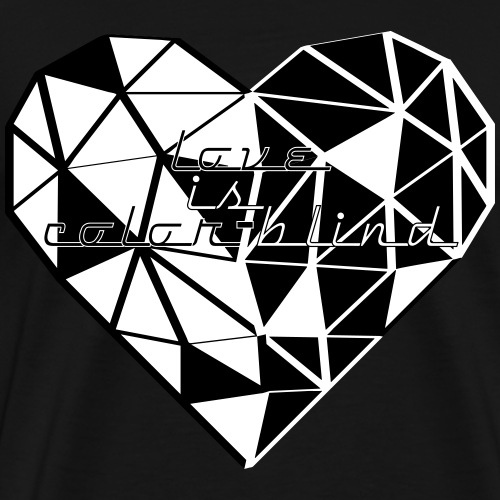 HEART TRIANGLE LOVE IS COLOR-BLIND HEART TRIANGLE - Männer Premium T-Shirt