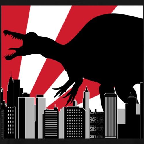 Spinosaurus Godzilla in Tokio Japan City - Männer Premium T-Shirt
