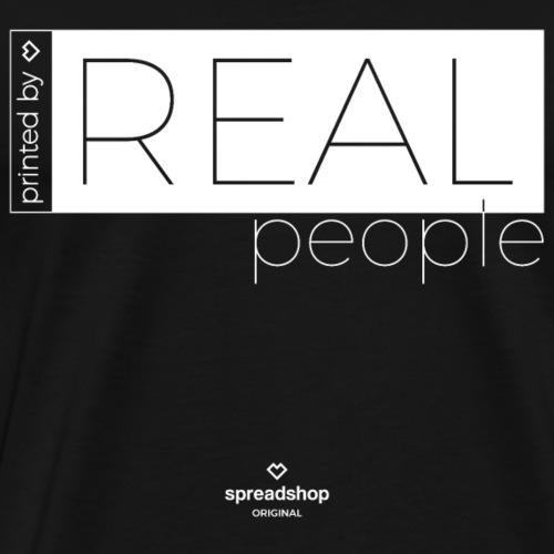Real in white - Men's Premium T-Shirt