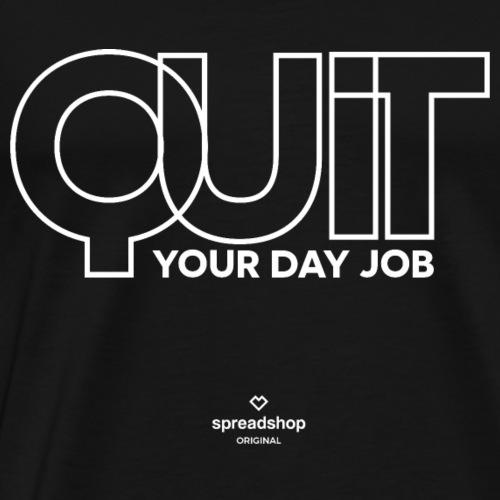 Quit in white - Men's Premium T-Shirt