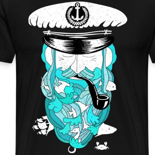 Kapitän im Meer - Männer Premium T-Shirt