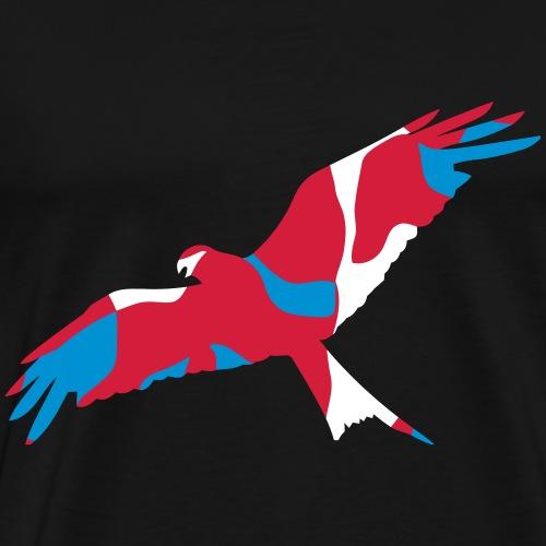 UK WALES RED KITE - CAMO / CAMOUFLAGE - Männer Premium T-Shirt