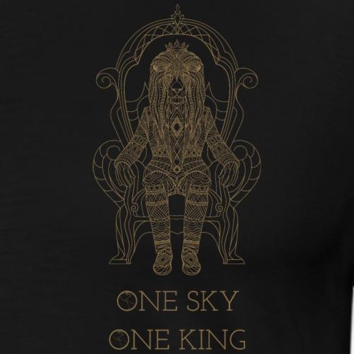 Eine Welt Ein König. One Sky one King. - Männer Premium T-Shirt