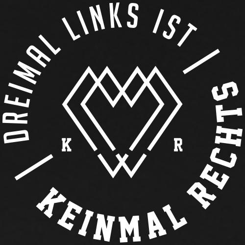 KEINMAL RECHTS LOGO WEIß - Männer Premium T-Shirt