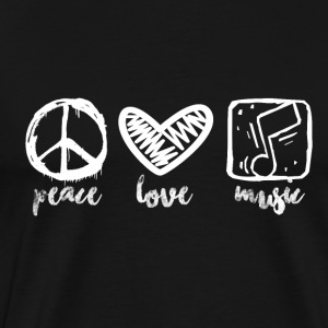 Peace Love Music - Music Passion - Mannen Premium T-shirt