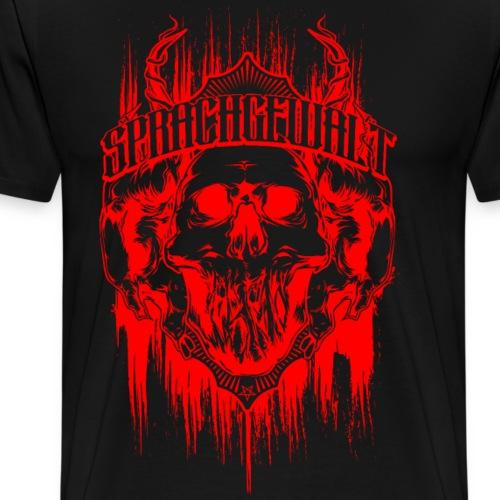 Sprachgewalt - Baphomet Skull - Männer Premium T-Shirt