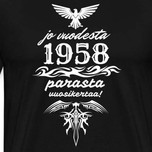 Parasta vuosikertaa, 1958 - Miesten premium t-paita